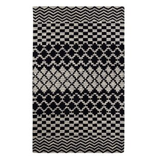 Buy clear Dream Handwoven Flatweave Wool Gray/Black Area Rug By Dynamic Rugs