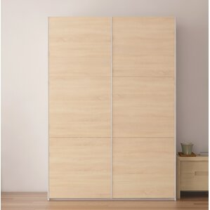 Zastrow 3 Drawers Wood Armoire with Sliding Doors by Brayden Studio