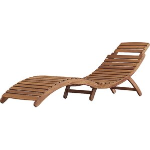 Tifany Wood Outdoor Chaise Lounge  sc 1 st  AllModern : aluminum chaise lounge - Sectionals, Sofas & Couches