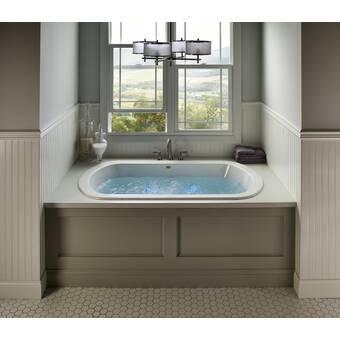 Hydro Systems Designer 72 X 42 Drop In Air Acrylic Bathtub Wayfair