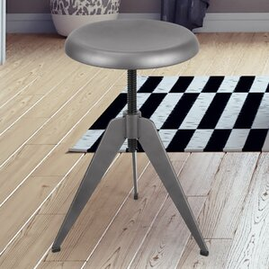 Rhodes Adjustable Height Tripod Bar Stool by 17 Stories