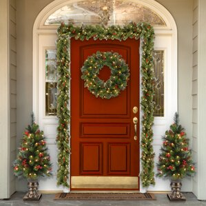 spruce entrance 4 green artificial christmas tree with 100 pre lit clear lights with - 15 Foot Christmas Tree