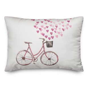 Haverhill Valentine Bike Lumbar Pillow by Harriet Bee Great price
