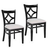 Mignone Linen Side Chair (Set of 2) by Bloomsbury Market