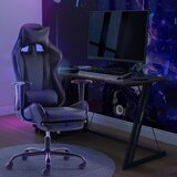 High Back and Overturn Footrest Retractable Gaming Chair