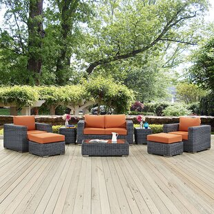 Keiran 8 Piece Sunbrella Sectional Set with Cushions