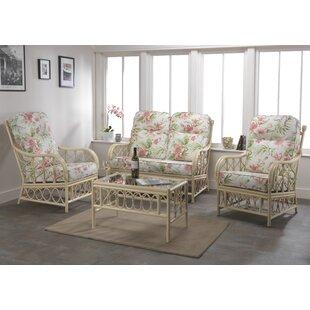 Check Price Desiree 4 Piece Conservatory Sofa Set