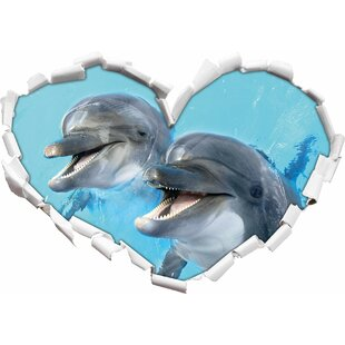 Dolphin Couple Wall Sticker By East Urban Home