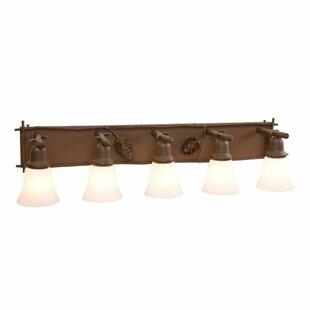 Steel Partners Ponderosa Pine 5-Light Vanity Light