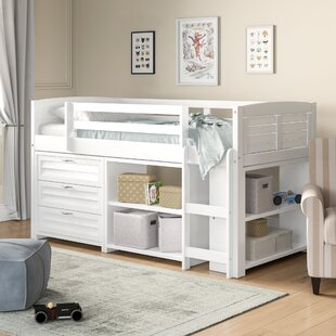 Chatham Twin Low Loft Bed with Drawers, Shelves and Bookcase by Birch Lane™ Heritage
