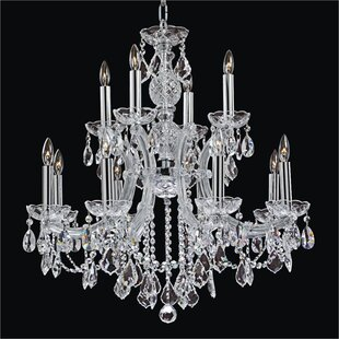 Glow Lighting Maria Theresa 12-Light Candle Style Chandelier
