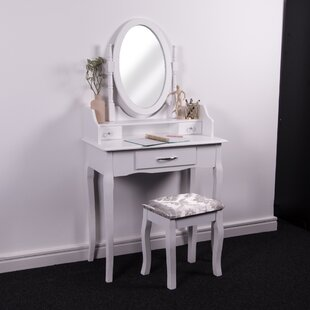 Chriopher Dressing Table Set With Mirror By Lily Manor
