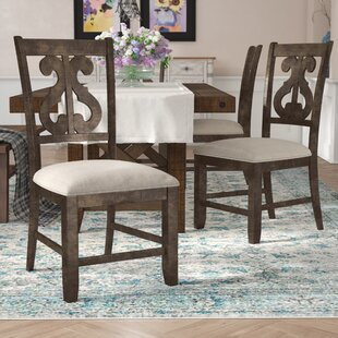 Hot Springs Upholstered Dining Chair (Set of 2) Three Posts