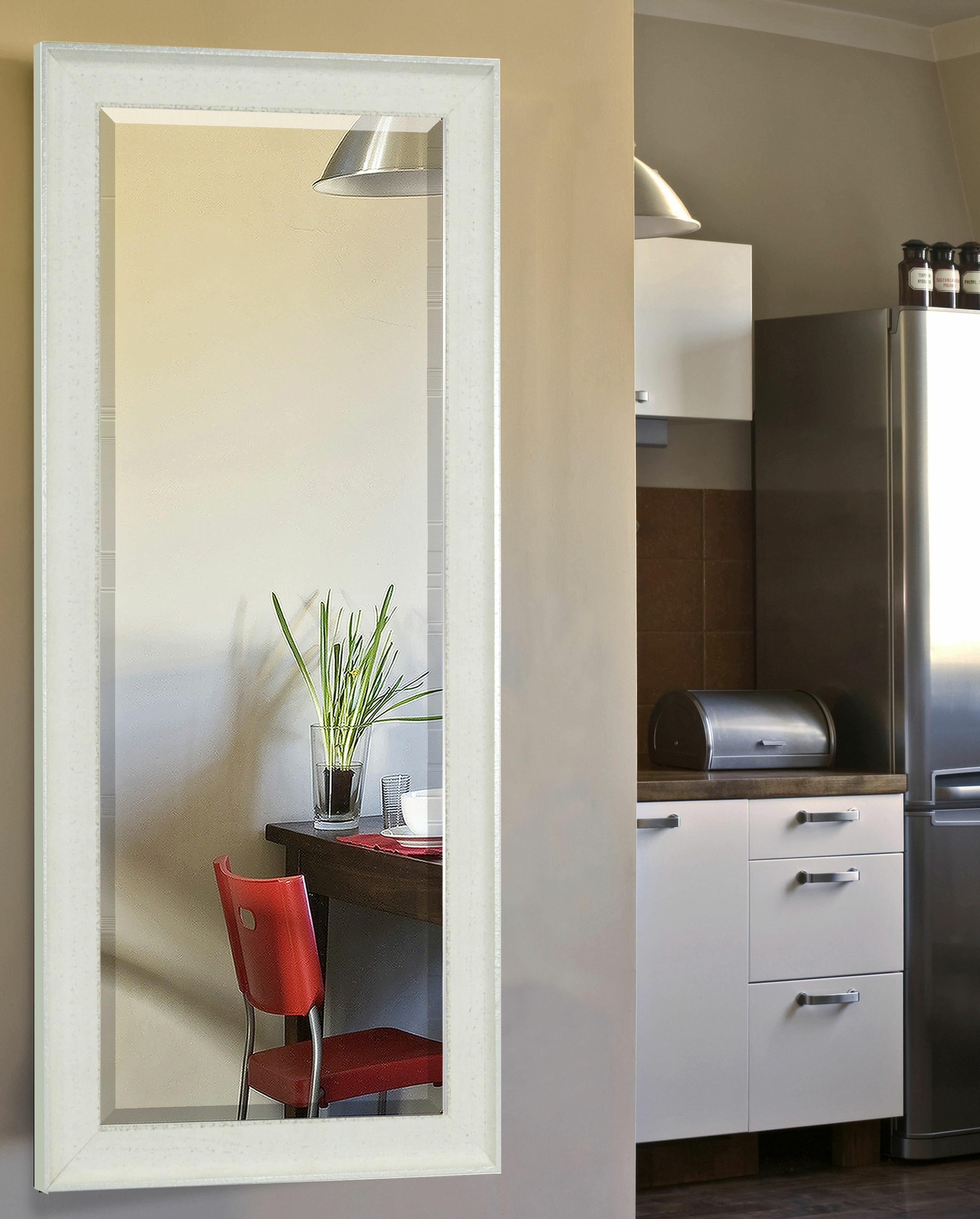 Gracie Oaks Carlea Vintage White Floor Wall Mirror Wayfair