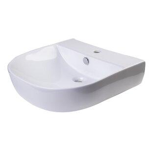 Inexpensive D-Bowl Metal 20 Wall Mount Bathroom Sink with Overflow ByAlfi Brand