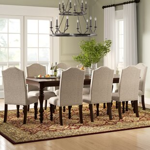 Calila 9 Piece Drop Lea Dining Set