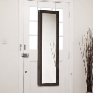 Shop For Baxton Studio Reflections Over the Door Jewelry Armoire with Mirror By Wholesale Interiors
