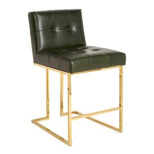 Goldfinger Counter Stool - Luggage Verde Jonathan Adler