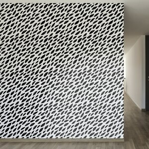 Naturally Black and White Removable 8' x 20