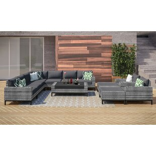 Jacobs 12 Piece Sectional Seating Group with Cushions