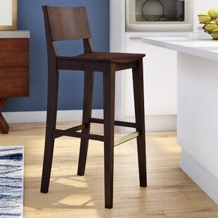 Otwell Beechwood Bar Stool by Brayden Studio
