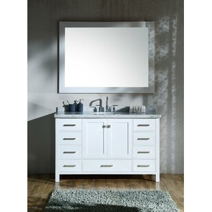 Marine 55 Single Bathroom Vanity Set with Mirror by Andover Mills