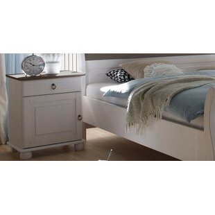 Victoria 1 Drawer Bedside Table By August Grove