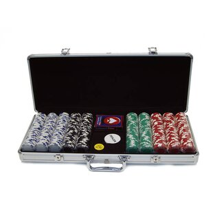 Case with Royal Suited  Poker Chip (Set of 500) by Trademark Global