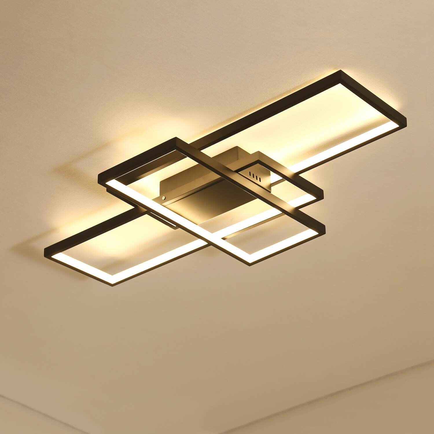 Modern Remote Dimmable Geometric Modeling Design Kitchen Led Flush Mount  Ceiling Light