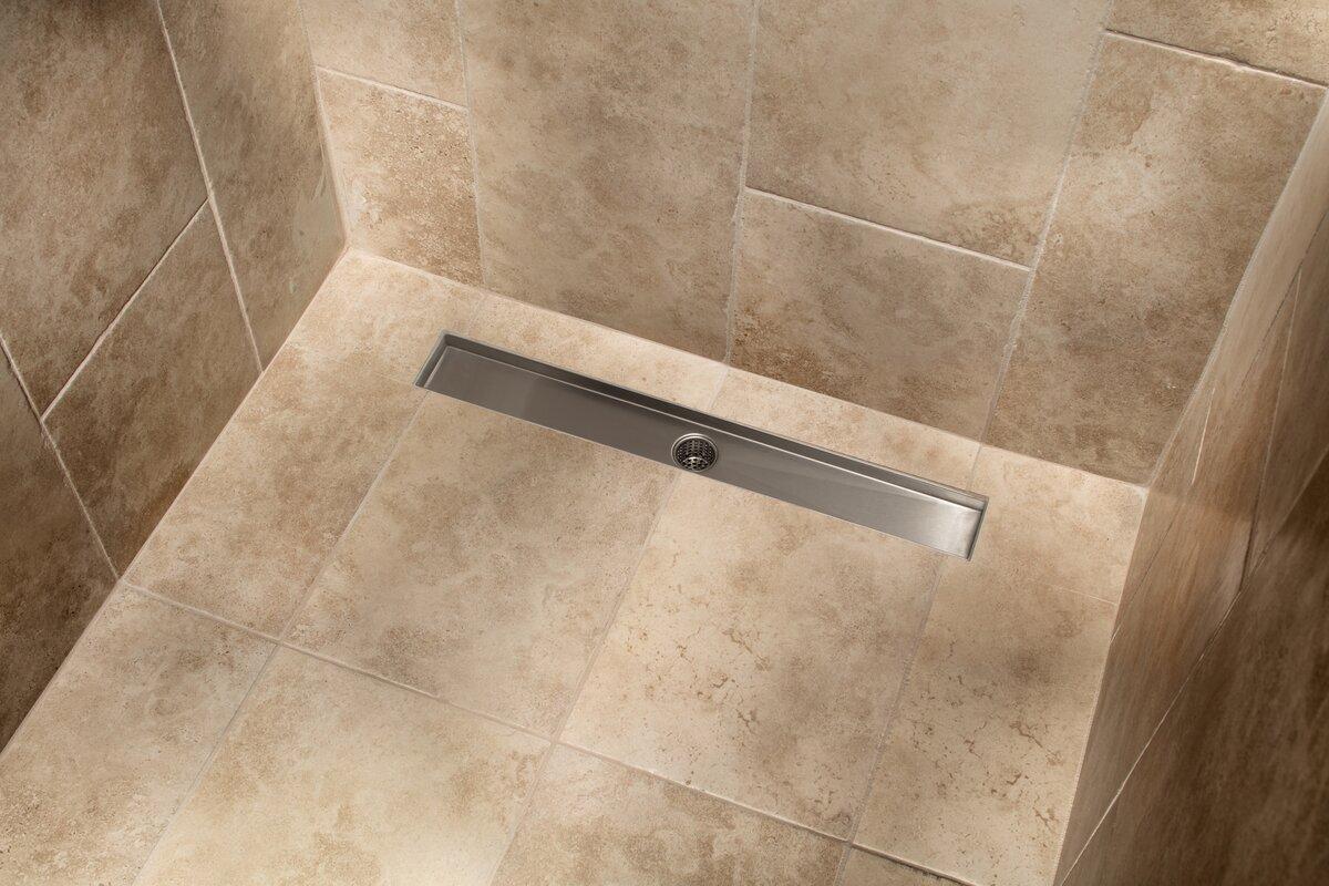 Soleil stainless steel tile insert linear 2 tile in shower drain stainless steel tile insert linear 2 tile in shower drain ppazfo