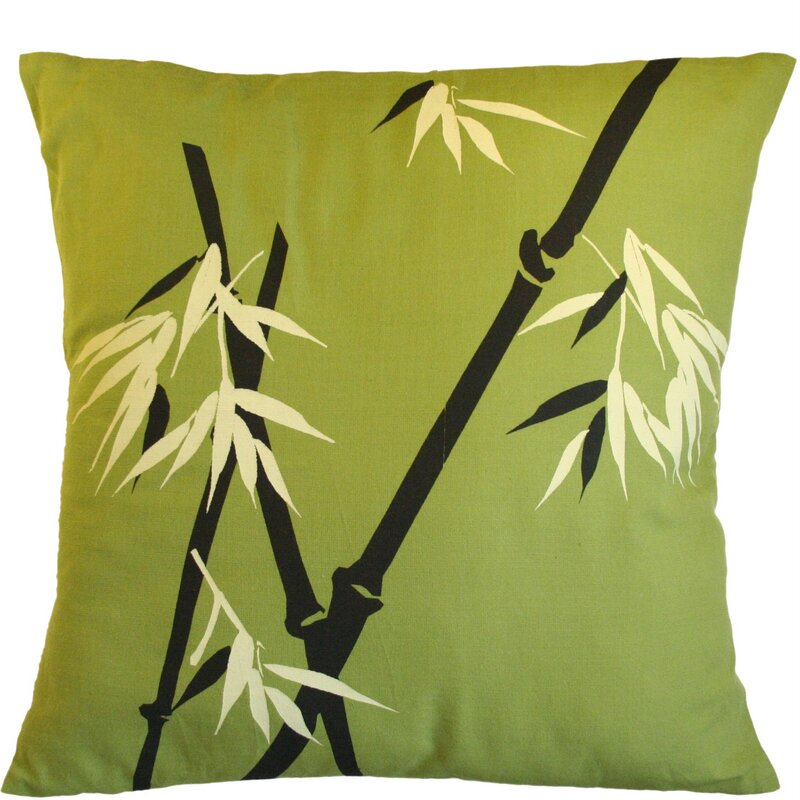 Sustainable Threads Wild Bamboo On Moss Cotton Throw Pillow Wayfair