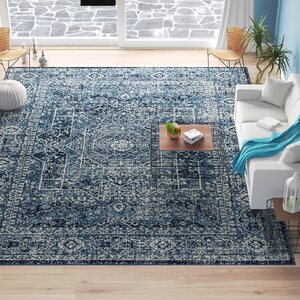 Bungalow Rose Dietz Midnight Blue Area Rug Wayfair