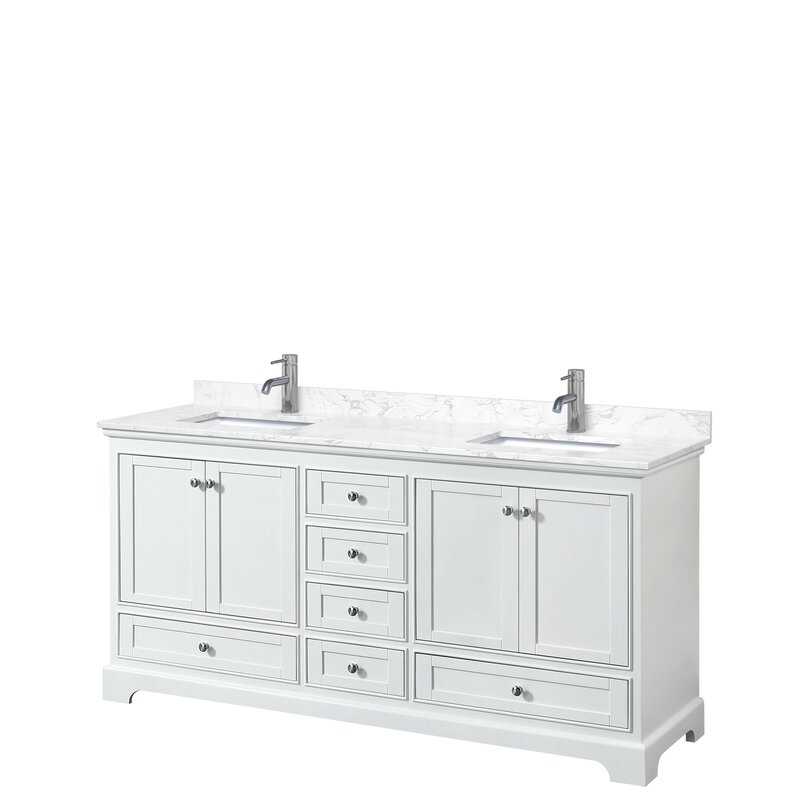 Wyndham Collection Deborah 72 Double Bathroom Vanity Set Wayfair