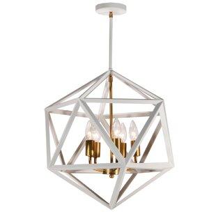 Addison 5-Light Geometric Chandelier by Trule Teen