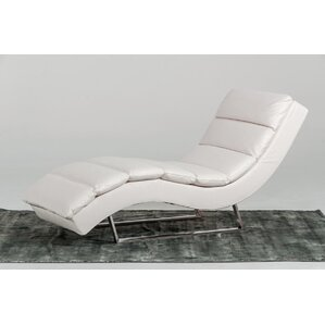 Coalpit Heath Leather Chaise Lounge by Orren..