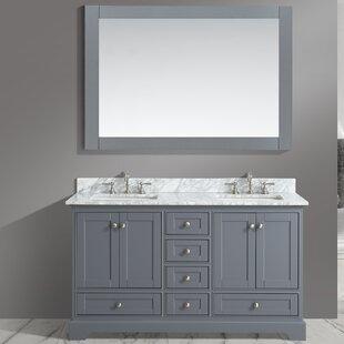 Castellanos 60 Double Bathroom Vanity Set with Mirror by Charlton Home