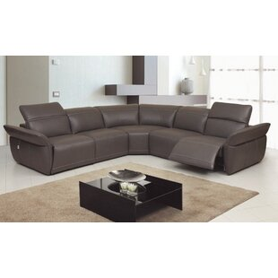 Shop Howarth Motion Genuine Leather Reclining Sectional by Red Barrel Studio