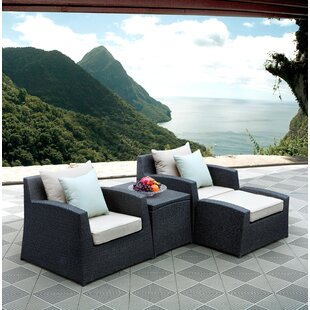 Latitude Run Hercules 4 Piece Lounge Chai..