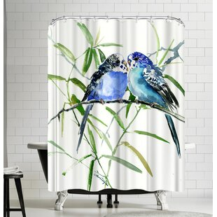Suren Nersisyan Budgies Parakeets Single Shower Curtain