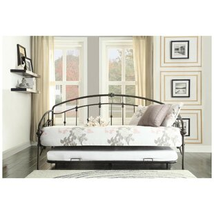 Vern Metal Daybed with Trundle by Canora Grey