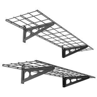 Garage Storage Rack Wall Shelf Set (Set of 2)