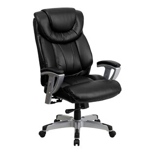 Latitude Run Ash Leather Executive Chair