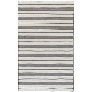 Alicea Handwoven Black Indoor Outdoor Area Rug