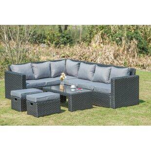 Manan Garden Corner Sofa With Cushions Image