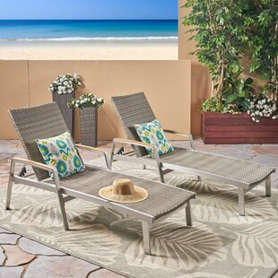 Vanhorn Outdoor Reclining Chaise Lounge (Set of 2)