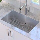 """Standart PRO™ 30"""" L x 18"""" W Undermount Kitchen Sink with Basket Strainer"""