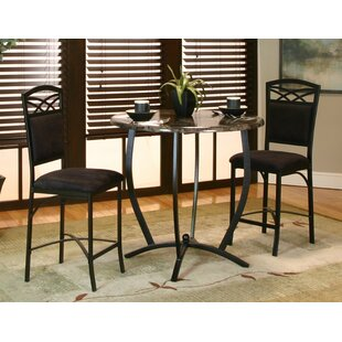 Jacob 3 Piece Counter Height Dining Set Latitude Run