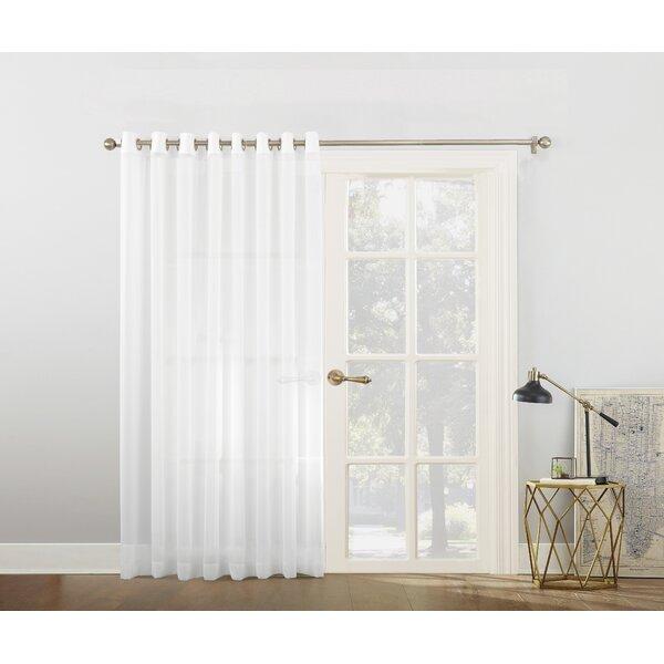 918 Emily Voile Sliding Door Patio Solid Semi-Sheer Grommet Single Curtain Panel \u0026 Reviews   Wayfair  sc 1 st  Wayfair & No. 918 Emily Voile Sliding Door Patio Solid Semi-Sheer Grommet ...