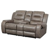 Charissa 77 Wide Faux Leather Round Arm Reclining Loveseat by Red Barrel Studio®