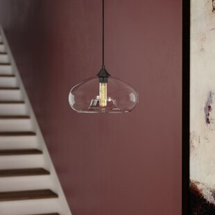 Derek 1-Light Glass Shade Bowl Pendant